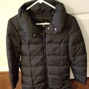 Forever 21 Long Belted Black Puffer Jacket